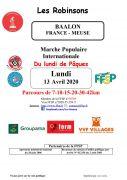 Marche Populaire Lundi de Pâques à Baâlon 55700 Baâlon du 13-04-2020 à 07:00 au 13-04-2020 à 17:00