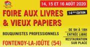 Foire du Livre à Fontenoy-la-Joûte et Vieux Papiers 54122 Fontenoy-la-Joûte du 14-08-2020 à 10:00 au 16-08-2020 à 18:00