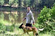 Eric Cantona en tournage dans les Vosges