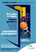 Visites Guidées Animations géologie Andra Meuse/Haute-Marne 55290 Bure du 06-07-2020 à 14:30 au 30-08-2020 à 18:00