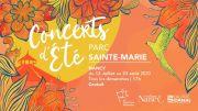 Concerts d'Été au Parc Sainte-Marie Nancy 54000 Nancy du 12-07-2020 à 17:00 au 23-08-2020 à 18:30