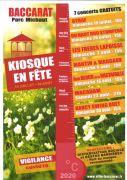 Kiosque en Fête Concerts à Baccarat 54120 Baccarat du 19-07-2020 à 15:00 au 30-08-2020 à 17:00