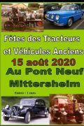 Fête des Tracteurs et Voitures Anciennes à Mittersheim 57930 Mittersheim du 15-08-2020 à 10:00 au 15-08-2020 à 23:00
