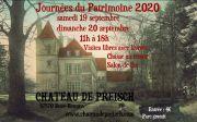 Journées du Patrimoine au Château de Preisch  57570 Basse-Rentgen du 19-09-2020 à 11:00 au 20-09-2020 à 18:00