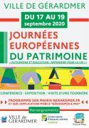 Journées du Patrimoine à Gérardmer 88400 Gérardmer du 17-09-2020 à 09:30 au 20-09-2020 à 18:00