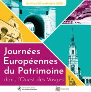 Journées du Patrimoine Neufchâteau et Ouest Vosges 88300 Neufchâteau du 19-09-2020 à 08:00 au 20-09-2020 à 18:00