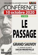 Conférence Maxéville Spiritisme le Passage 54320 Maxéville du 10-10-2020 à 14:30 au 10-10-2020 à 18:00