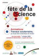 Fête de la Science Centre Andra Meuse / Haute-Marne 55290 Bure du 03-10-2020 à 13:30 au 01-11-2020 à 16:30