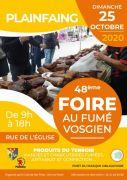 Foire au Fumé Vosgien à Plainfaing 88230 Plainfaing du 25-10-2020 à 08:00 au 25-10-2020 à 18:00