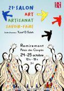 Salon Art Artisanat et Savoir-Faire à Remiremont 88200 Remiremont du 24-10-2020 à 10:00 au 25-10-2020 à 19:00