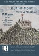 Le Saint-Mont : Trace & Mémoire Exposition à Remiremont 88200 Remiremont du 06-10-2020 à 13:30 au 17-12-2020 à 17:30