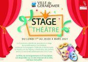 Stage Enfant Sensibilisation Théâtre à Gérardmer 88400 Gérardmer du 01-03-2021 à 08:00 au 04-03-2021 à 18:00