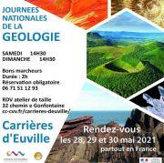 Balades Journées Nationales Géologie aux Carrières d'Euville 55200 Euville du 29-05-2021 à 14:30 au 30-05-2021 à 17:00