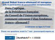 Journée de l'Europe 2 débats numériques exceptionnels