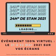 Les 24 Heures de Stan Nancy Édition Virtuelle 54000 Nancy du 21-05-2021 à 10:00 au 22-05-2021 à 20:00