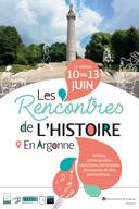 Rencontres de l'Histoire en Argonne 55270 Montfaucon-d'Argonne du 11-06-2021 à 20:00 au 13-06-2021 à 18:00