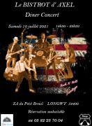 Dîners Concerts à Longwy en Juin 54400 Longwy du 20-06-2021 à 12:00 au 10-07-2021 à 23:00
