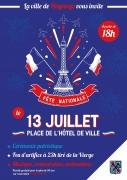 Fête Nationale Feu d'Artifice à Hayange 57700 Hayange du 13-07-2021 à 18:00 au 13-07-2021 à 23:30
