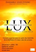 Concert de l'Ombre à la Lumière à Pont-à-Mousson 54700 Pont-à-Mousson du 04-07-2021 à 18:00 au 04-07-2021 à 19:00