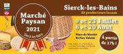 Marchés Paysans à Sierck-Les-Bains 57480 Sierck-les-Bains du 09-07-2021 à 17:00 au 20-08-2021 à 22:00