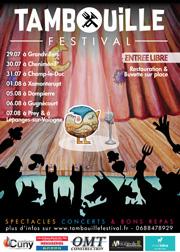 Tambouille Festival dans les Vosges Grandvilllers, Cheniménil, Champ le Duc, Xamontarupt, Dompierre, Gugnécourt, Prey et Lépanges sur Vologne du 29-07-2021 à 19:00 au 07-08-2021 à 21:00