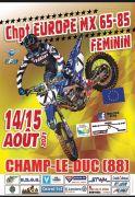 Championnat d'Europe Motocross Féminin Champ-le-Duc 88600 Champ-le-Duc du 14-08-2021 à 13:00 au 15-08-2021 à 18:00
