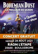 Concert Gratuit Bohemian Dust Raon-L'Etape Queen Live 88110 Raon-l'Étape du 28-08-2021 à 20:00 au 28-08-2021 à 23:15