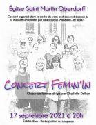 Concert à l'église Saint Martin à Oberdorff 57320 Oberdorff du 17-09-2021 à 20:00 au 17-09-2021 à 21:30