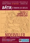 Journées d'Histoire Régionale à Niderviller 57565 Niderviller du 09-10-2021 à 14:00 au 10-10-2021 à 18:00