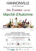Marché d'Automne à Hannonville 55210 Hannonville-sous-les-Côtes du 03-10-2021 à 10:00 au 03-10-2021 à 18:00