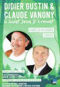 Spectacle Didier Gustin et Claude Vanony Saint Jean d'Ormont 88210 Saint-Jean-d'Ormont du 20-11-2021 à 20:30 au 20-11-2021 à 23:30