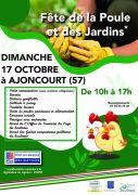 Fête de la Poule et des Jardins à Ajoncourt 57590 Ajoncourt du 17-10-2021 à 10:00 au 17-10-2021 à 17:00