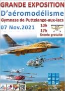 Exposition Aéromodélisme à Puttelange-aux-Lacs 57510 Puttelange-aux-Lacs du 07-11-2021 à 10:00 au 07-11-2021 à 17:00