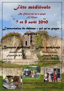 Fête Médiévale au château de Moyen 54118 Moyen du 07-08-2010 à 17:30 au 08-08-2010 à 16:00