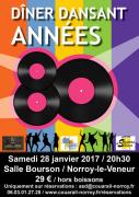 Dîner Dansant Années 80 Norroy-le-Veneur 57140 Norroy-le-Veneur du 28-01-2017 à 19:30 au 28-01-2017 à 22:59