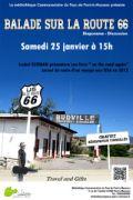 Balade sur la route 66 à Pont-à-Mousson 54700 Pont-à-Mousson 25-01-2014 à 13:00