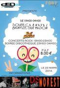 Soirée Carnaval à Fort Aventure Bainville-sur-Madon  54550 Bainville-sur-Madon du 22-03-2014 à 17:00 au 23-03-2014 à 02:00