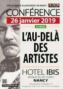 Conférence Spirite : l'au-delà des artistes à Nancy 54000 Nancy du 26-01-2019 à 14:30 au 26-01-2019 à 18:00