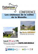 Conférence Châteaux de la Vallée de la Moselle à Châtel 88330 Châtel-sur-Moselle 25-05-2019 à 17:00